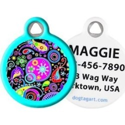 Dog Tag Art Swirly Paisley Personalized Dog & Cat ID Tag, Large
