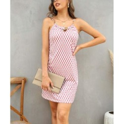 Camisa Women's Casual Dresses Pink - Pink Polka Dot Metal-Detail Keyhole Sleeveless Dress - Women found on Bargain Bro from zulily.com for USD $15.19