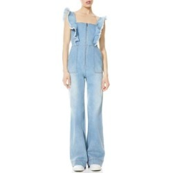 Gorgeous Open Back Sleevless Denim Jumpsuit - Blue - Alice + Olivia Jumpsuits found on MODAPINS from lyst.com for USD $175.00