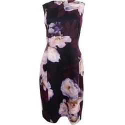 Calvin Klein Women's Petite Printed Sheath Dress (8P), Multicolor(polyester) found on Bargain Bro Philippines from Overstock for $61.74