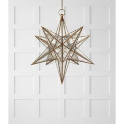 Visual Comfort and Co. E. F. Chapman Moravian Star 48 Inch Large Pendant - CHC 5213GI-AM found on Bargain Bro from Capitol Lighting for USD $3,039.24