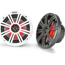 "Kicker 45KM654L 6.5"" LED Coax w/ Charcoal & White Grills"