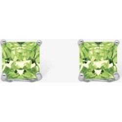 Women's Sterling Silver Stud Princess Cut Simulated Birthstone Stud Earrings by PalmBeach Jewelry in August found on Bargain Bro Philippines from Ellos for $22.99