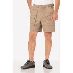 Men's Adjust-A-Band Relaxed-Fit Cargo Shorts, Buckskin Tan 30 found on Bargain Bro India from Blair.com for $29.99