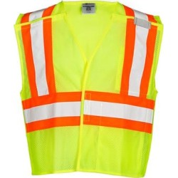 Contrasting Mesh Breakaway Vest (Lime - 5XL), Men's, Green(polyester) found on Bargain Bro Philippines from Overstock for $42.87