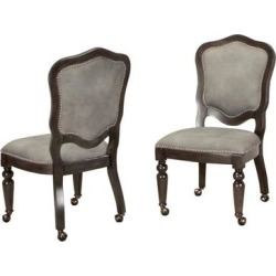 Sunset Trading Vegas Gaming and Dining Chair In Distressed Gray Wood With Casters ( Set of 2 ) - Sunset Trading CR-87711-2 found on Bargain Bro Philippines from totally furniture for $729.09