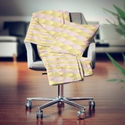 Designart' Golden Geometrical Fish Scale' Modern Throw Blanket - 71x59 (Throw), Beige found on Bargain Bro from Overstock for USD $50.15