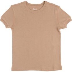 Leveret Tee Shirts Beige - Beige Crewneck Tee - Toddler & Kids found on Bargain Bro India from zulily.com for $8.99