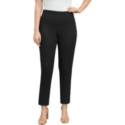 Plus Size Women's Tummy Control Twill Ankle Pant by Jessica London in Black (Size 18 W) found on Bargain Bro Philippines from Roamans.com for $49.99