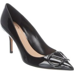 Valentino Vlogo 80 Patent Pump (37), Women's, Black(leather) found on Bargain Bro Philippines from Overstock for $713.90