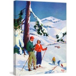 Marmont Hill - Handmade Ski Break Painting Print on Canvas found on Bargain Bro Philippines from Overstock for $141.99