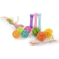 SmartyKat Smarty Stash Variety Pack Cat Toys, 13 count
