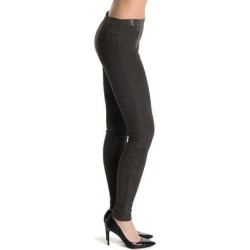 Front Zip Genuine Suede Legging - Black - Alice + Olivia Pants found on MODAPINS from lyst.com for USD $225.00