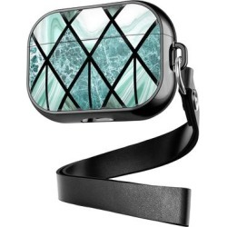 Shou Camera Cases Black - Black & Green Geometric Geometric Apple Airpods Case found on Bargain Bro Philippines from zulily.com for $12.99