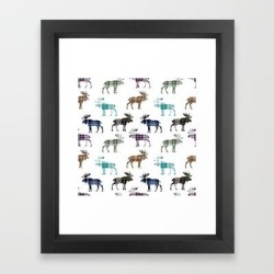 Framed Art Print   Plaid Moose Iii by Thin Line Studio - Vector Black - X-Small-10x12 - Society6 found on Bargain Bro from Society6 for USD $25.53