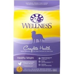 Wellness Complete Health Healthy Weight Deboned Chicken & Peas Recipe Dry Dog Food, 13-lb bag
