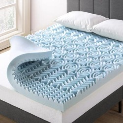 4 Inch 5-Zone Memory Foam Mattress Topper with Cooling Gel Infusion (Full), multicolor, Crown Comfort found on Bargain Bro from Overstock for USD $86.25