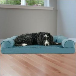 FurHaven Plush & Suede Memory Top Bolster Dog Bed w/Removable Cover, Deep Pool, Large found on Bargain Bro India from Chewy.com for $58.99