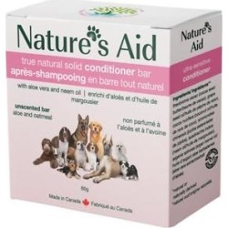 Nature's Aid True Natural Solid Unscented Aloe & Oatmeal Dog Conditioner Bar found on Bargain Bro India from Chewy.com for $10.50