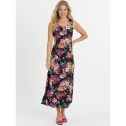 Women's Petite Fresh Pick Button-Front Sundress, Autumn Bouquet P-S found on Bargain Bro from Blair.com for USD $26.59