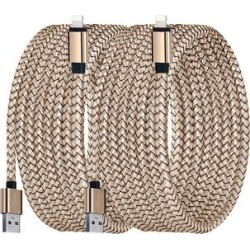 Shou Lightning Cables Gold - Gold 10' Nylon Lightning Cable - Set of Two found on Bargain Bro from zulily.com for USD $9.87