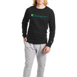 Champion Men's Classic Graphic Long Sleeve Tee (Size XXL) Black, Cotton found on Bargain Bro Philippines from ShoeMall.com for $29.95