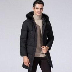 Men's Hooded Warm Coat Winter Parka Jacket (M)(fleece) found on MODAPINS from Overstock for USD $125.65