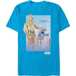 Fifth Sun Men's Tee Shirts TURQ - Turquoise Star Wars C-3PO & R2-D2 Tee - Men found on Bargain Bro Philippines from zulily.com for $15.53