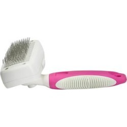 Lucy Belle Pets Pet Brushes Pink - Pink Self-Cleaning Slicker Brush found on Bargain Bro from zulily.com for USD $13.52