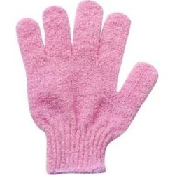1Pc Shower Bath Exfoliating Wash Skin Spa Massage Scrub Body Scrubber Fine Glove (Pink) found on Bargain Bro Philippines from Overstock for $7.48