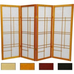 Handmade 4' Wood and Rice Paper Eudes Shoji Screen - 48 x 70 found on Bargain Bro Philippines from Overstock for $243.49