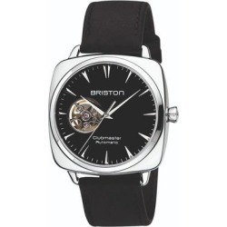 Briston Clubmaster Iconic Open Automatic, Black Dial And Black Vintage Leather 2-part Strap - Black - Briston Watches found on Bargain Bro India from lyst.com for $724.00