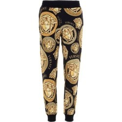 'medusa' Print Joggers - Yellow - Versace Sweats found on Bargain Bro from lyst.com for USD $519.84
