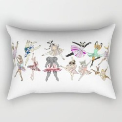 Rectangular Pillow | Animal Ballet Hipsters Lv by Notsniw - Small (17