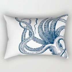Rectangular Pillow | Octopus Navy by Ohh Baby - Small (17