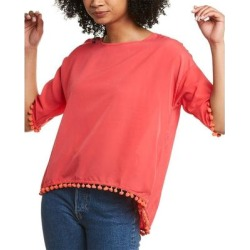 French Connection Pom Pom Top (4), Women's, Pink(polyester) found on MODAPINS from Overstock for USD $21.99