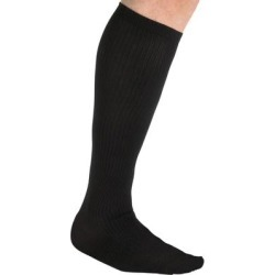 Over-the-Calf Compression Silver Socks by KingSize in Black (Size 2XL) found on Bargain Bro Philippines from Brylane Home for $14.99