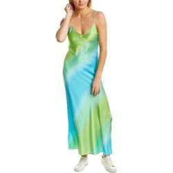 Dannijo Silk Maxi Slip Dress (4), Women's, Green found on MODAPINS from Overstock for USD $259.59