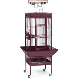 Prevue Pet Products Signature Select Series Wrought Iron Bird Cage in Metallic Garnet Red, Small