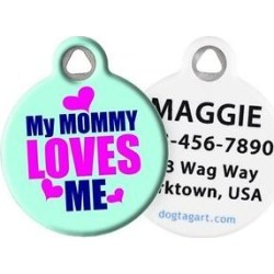 Dog Tag Art My Mommy Loves Me Personalized Dog & Cat ID Tag, Large