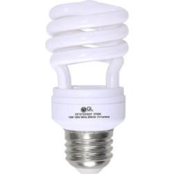 Goodlite G-10842 13-Watt CFL 60 Watt Replacement 900-Lumen T2 Spiral Light Bulbs 10,000 Hour Life Super White 5000k (Case of 25) found on Bargain Bro India from Overstock for $81.69