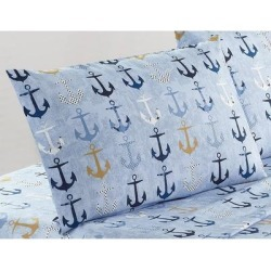Porch & Den Enterprise Anchor Pattern 4-piece Bed Sheet Set found on Bargain Bro from Overstock for USD $18.69