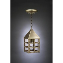 Northeast Lantern York 11 Inch Tall 1 Light Outdoor Hanging Lantern - 7112-AB-MED-CLR