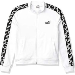 Puma Men's Amplified Track Jacket, White, Small found on Bargain Bro from Overstock for USD $22.23