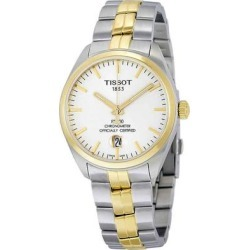 Pr 100 Automatic Silver Dial Mens Watch - Metallic - Tissot Watches found on Bargain Bro India from lyst.com for $299.00