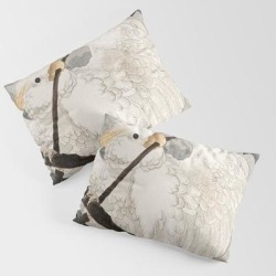 King Size Pillow Sham | Cockatoo On A Tree - Japanese Vintage Woodblock Print by Vintagejapaneseart - STANDARD SET OF 2 - Cotton - Society6 found on Bargain Bro from Society6 for USD $30.39