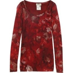 Fuzzi Womens Mesh Pullover Blouse, Red, X-Large (XL), Women's(nylon, floral) found on MODAPINS from Overstock for USD $163.47