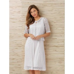 Haband Womens Lace Jacket & Dress Set, White, Size S Misses Petite, P - Petite found on Bargain Bro Philippines from Haband for $24.99