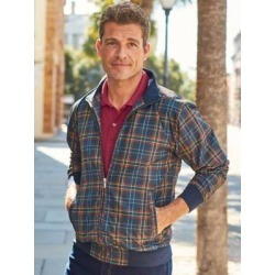 Men's John Blair Everyday Jacket, Navy Plaid Blue S found on Bargain Bro Philippines from Blair.com for $39.99