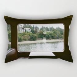 Rectangular Pillow   Ferry Ride To Bainbridge Island, Wa by Kameron Elisabeth - Small (17